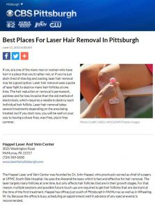 CBS Best Places For Laser Hair Removal In Pittsburgh
