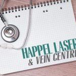 Happel Laser and Vein Center written on a clipboard