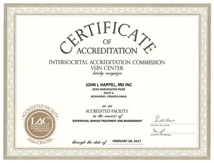IAC certificate